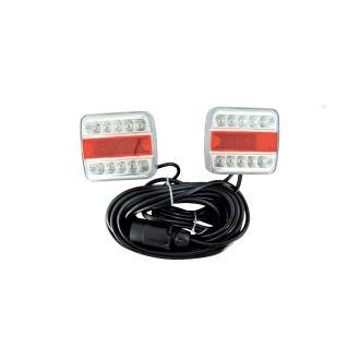 Φώτα τρέιλερ led, μαγνητικά, με έτοιμη καλωδίωση 7.5m