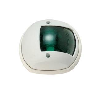Φανός πλευρικός σφαιρικός με άσπρο κέλυφος, πράσινο φως