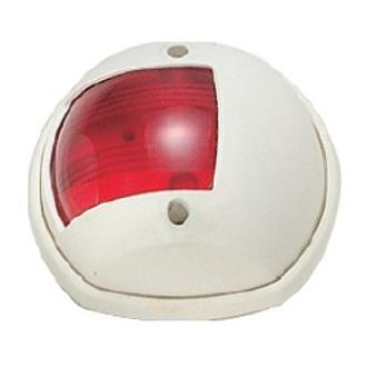 Φανός πλευρικός σφαιρικός με άσπρο κέλυφος, κόκκινο φως