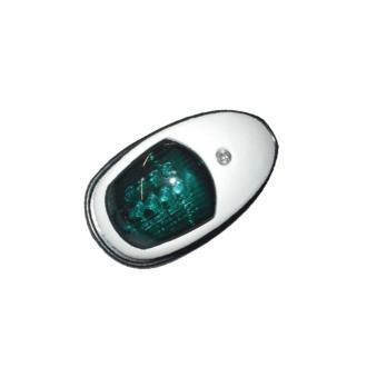 Φανός πλευρικός με πλαστικό άσπρο κέλυφος, πράσινο φως