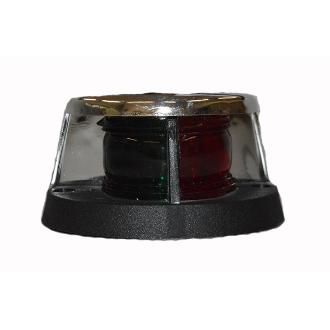 Φανός ναυσιπλοΐας δίχρωμος με LED, χρωμιομένο κέλυφος