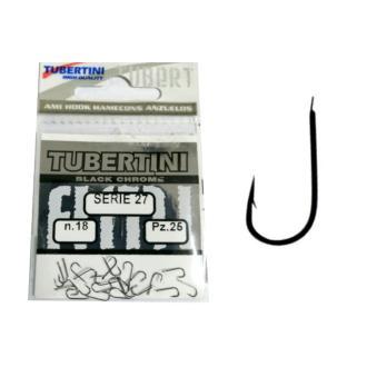 Αγκίστρια Tubertini Serie-27 Black chrome 25τμχ Νο14