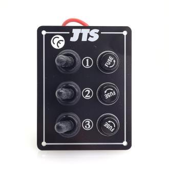 Πίνακας κονσόλας JTS 3 διακοπτών στεγανός χωρίς LED, στενός