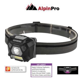 Φακός κεφαλής Alpin pro sensor+ Wh-302UV