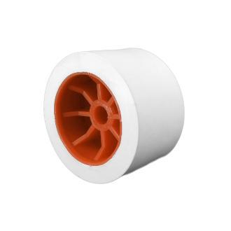 Ράουλο τρέιλερ λευκό με πορτοκαλί ακτίνες 11x6.8cm