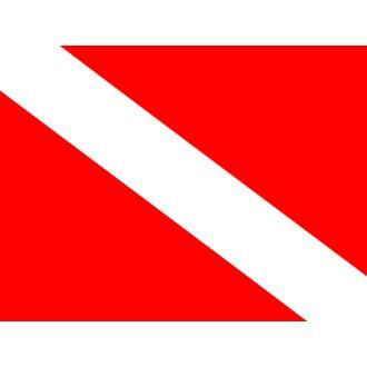 Σημαία κατάδυσης 20x34cm ορθογώνια