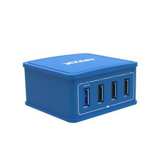 Φορτιστής XTAR 27W 4-Port USB μπλε