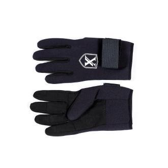 Γάντια Xifias neopren/δέρμα/velcro 2.5mm μαύρο, large