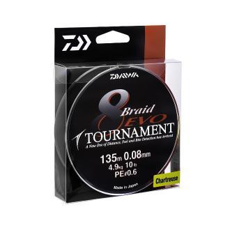 Νήμα Daiwa Tournament 8 Βraid EVO 135Μ 0.10mm PE 0,8
