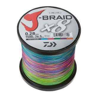 Νήμα Daiwa J-braid X-8 πολύχρωμο 1500m 0.28mm (PE4)
