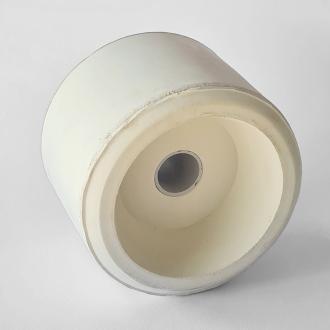 Ράουλο καρίνας ελαστικό 7x9cm Φτρ17mm, ΛΕΥΚΟ