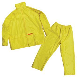 Lalizas Αδιάβροχο Παντελόνι & Σακάκι με κουκούλα, κίτρινο