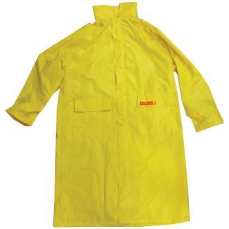 Lalizas Αδιάβροχο σακάκι μακρύ με κουκούλα κίτρινο