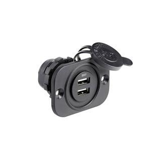 Παροχή ρεύματος για δύο USB, μαύρο Osculati